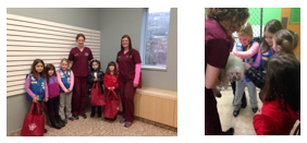 Girls Scout Daisy Troup toured West Hills Animal Hospital